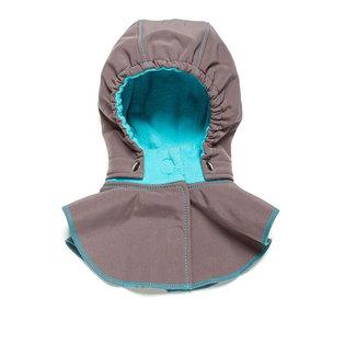 Baby Hood & Neck Warmer - Grey-turquoise