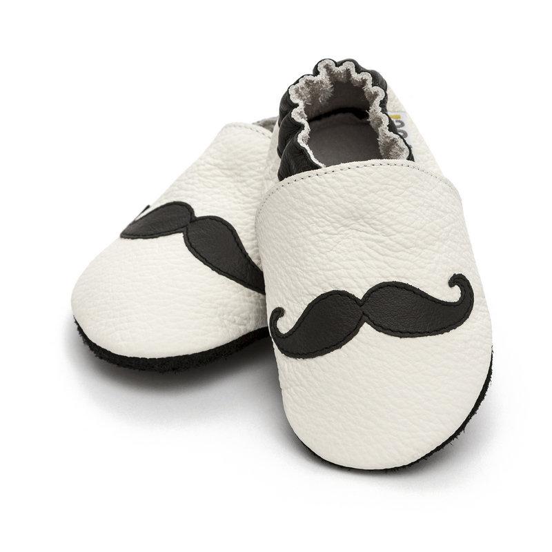 Liliputi® Soft Baby Shoes Moustache | Liliputi baby shop