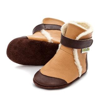 Liliputi® Soft Soled Booties - Eskimo Caramell