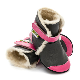 Liliputi® Soft Soled Booties - Eskimo Black