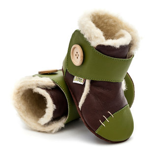 Liliputi® Soft Soled Booties - Snowflake Brown