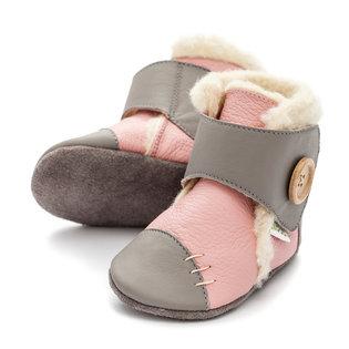 Liliputi® Soft Soled Booties - Snowflake Pink