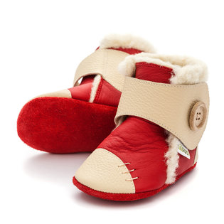 Liliputi® Soft Soled Booties - Snowflake Red