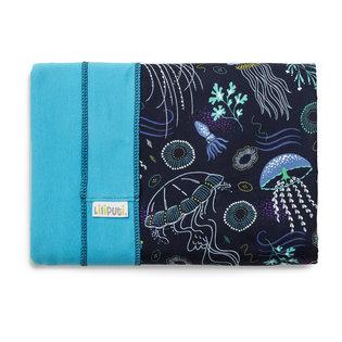 Liliputi® Stretchy Wrap - Rainbow line - Deep Blue