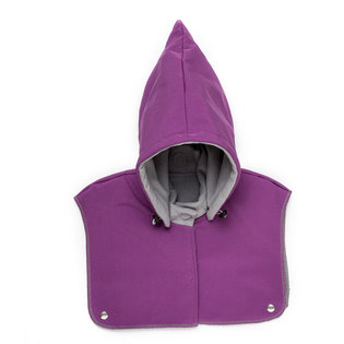 Baby Hood & Neck Warmer - Violet-Grey