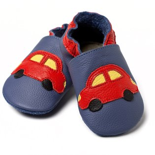 Liliputi® Soft Baby Shoes - Blue Cars V8